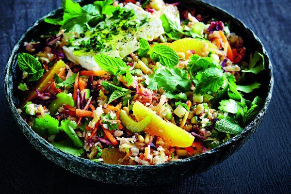 Salade d'orge et de légumes crus | Recette Santé OfficeMed